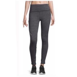 Xersion Fleece Lined Legging Gray Black NWT
